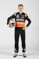 Nico Hulkenberg (GER) Sahara Force India F1.<br /> Sahara Force India F1 Team Livery Reveal, Soumaya Museum, Mexico City, Mexico. Wednesday 21st January 2015.