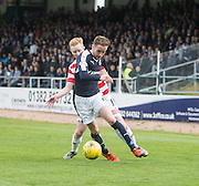 Dundee&rsquo;s Nick Ross goes past Hamilton&rsquo;s Ali Crawford - Dundee v Hamilton Academical, Ladbrokes Scottish Premiership at Dens Park<br /> <br /> <br />  - &copy; David Young - www.davidyoungphoto.co.uk - email: davidyoungphoto@gmail.com