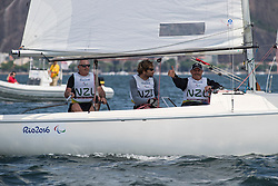 DODSON Richard, MAY Andrew, SHARP Chris, NZL, 3-Person Keelboat, SONAR, Sailing, Voile à Rio 2016 Paralympic Games, Brazil