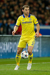 Branislav Ivanovic of Chelsea in action - Photo mandatory by-line: Rogan Thomson/JMP - 07966 386802 - 17/02/2015 - SPORT - FOOTBALL - Paris, France - Parc des Princes - Paris Saint-Germain v Chelsea - UEFA Champions League, Last 16, First Leg.