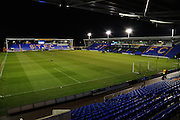 The Greenhous Meadow, home of Shrewsbury Town prior to the Sky Bet League 1 match between Shrewsbury Town and Coventry City at Greenhous Meadow, Shrewsbury, England on 8 March 2016. Photo by Mike Sheridan.