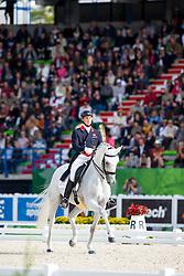 Michael Eilberg, (GBR), Half Moon Delphi - Grand Prix Special Dressage - Alltech FEI World Equestrian Games™ 2014 - Normandy, France.<br /> © Hippo Foto Team - Leanjo de Koster<br /> 25/06/14