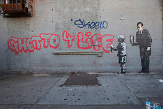 OCT 21 2013 Banksy graffiti art in New York City