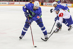 Bostjan Golicic of Slovenia during Ice Hockey match between National Teams of Italy and Slovenia in Round #5 of 2018 IIHF Ice Hockey World Championship Division I Group A, on April 28, 2018 in Arena Laszla Pappa, Budapest, Hungary. Photo by David Balogh / Sportida