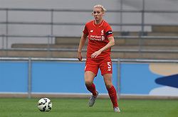 MANCHESTER, ENGLAND - Sunday, August 30, 2015: Liverpool's Gemma Bonner during the League Cup Group 2 match against Manchester City at the Academy Stadium. (Pic by Paul Currie/Propaganda)