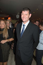 JAMES PACKER at a party to celebrate the 10th anniversary of Nobu Berkeley Street held on 5th November 2015.