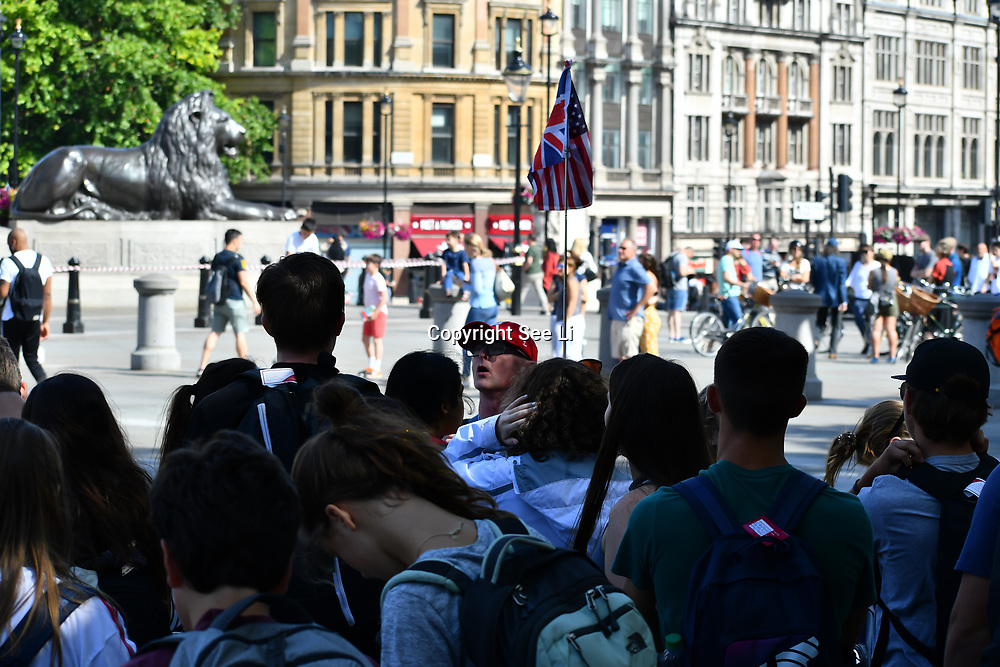 London Guided Tours‎ at Trafalgar Square, on 27 June 2019, London, UK