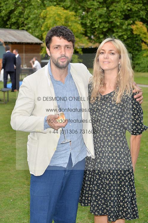 Conrad Shawcross and Carolina Mazzolari at the Dulwich Picture Gallery's inaugural Summer Party, Dulwich Picture Gallery, College Road, London England. 13 June 2017.