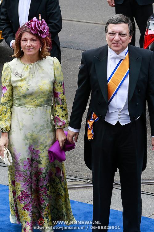 NLD/Amsterdam/20130430 - Inhuldiging Koning Willem - Alexander, voorzitter van de Europese Commissie José Manuel Barosso en partner