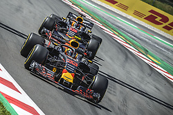 May 13, 2018 - Barcelona, Catalonia, Spain - MAX VERSTAPPEN (NED)MAX VERSTAPPEN (NED) leads DANIEL RICCIARDO (AUS) during the Spanish GP at Circuit de Barcelona - Catalunya in his Red Bull RB14 (Credit Image: © Matthias Oesterle via ZUMA Wire)