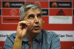 Cape Town--180409 Ajax Cape Town chairman Ari Efstathiou explaining the Tendai Ndoro saga when the team held a media briefing this afternoon  .Photographer;Phando Jikelo/African News Agency/ANA