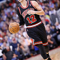 24 November 2013: Chicago Bulls shooting guard Kirk Hinrich (12) brings the ball upcourt during the Los Angeles Clippers 121-82 victory over the Chicago Bulls at the Staples Center, Los Angeles, California, USA.