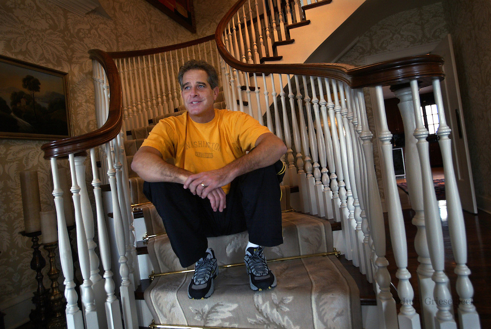 Paul Magers, Minneapolis / Los Angeles anchorman. Magers in his Minneaplis home before moving to Los Angeles.