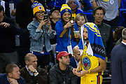 Golden State Warriors guard Stephen Curry (30) hangs out during a time out against the Minnesota Timberwolves at Oracle Arena in Oakland, Calif., on January 25, 2018. (Stan Olszewski/Special to S.F. Examiner)