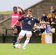 Jake Hyde and Southend United's Anthony Grant - Dundee v Southend United - East Fife Tournament at New Bayview<br /> <br /> &copy; David Young<br /> <br /> <br /> http://www.davidyoungphoto.co.uk