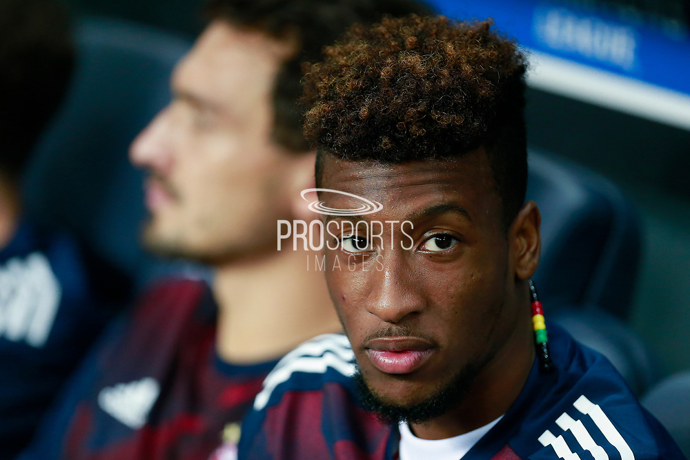 Bayern Munich's French midfielder Kingsley Coman sits on the bench during the UEFA Champions League, Group B football match between Paris Saint-Germain and Bayern Munich on September 27, 2017 at the Parc des Princes stadium in Paris, France - Photo Benjamin Cremel / ProSportsImages / DPPI