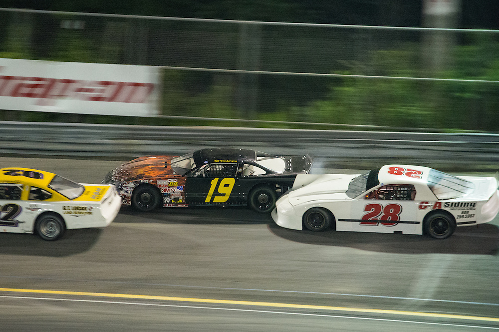 Lets go Racing:<br /> Limited Late model racing<br /> High speed body and fender work<br /> #02, Driven by Anthony Grimaldi III<br /> #19, Driven by Bill Vanderveen<br /> #28, Driven by Howie Conk<br /> <br />  Wall Stadium Speedway, Wall, NJ