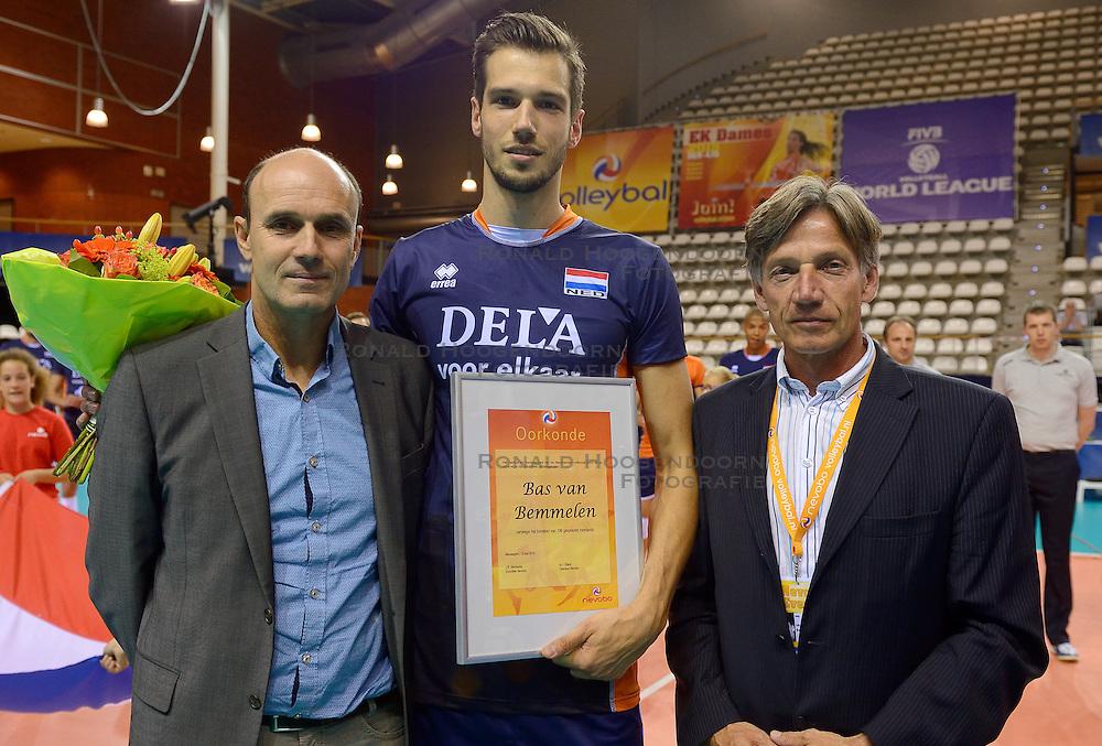 20150613 NED: World League Nederland - Finland, Almere<br /> Michel Everaert, Bas van Bemmelen