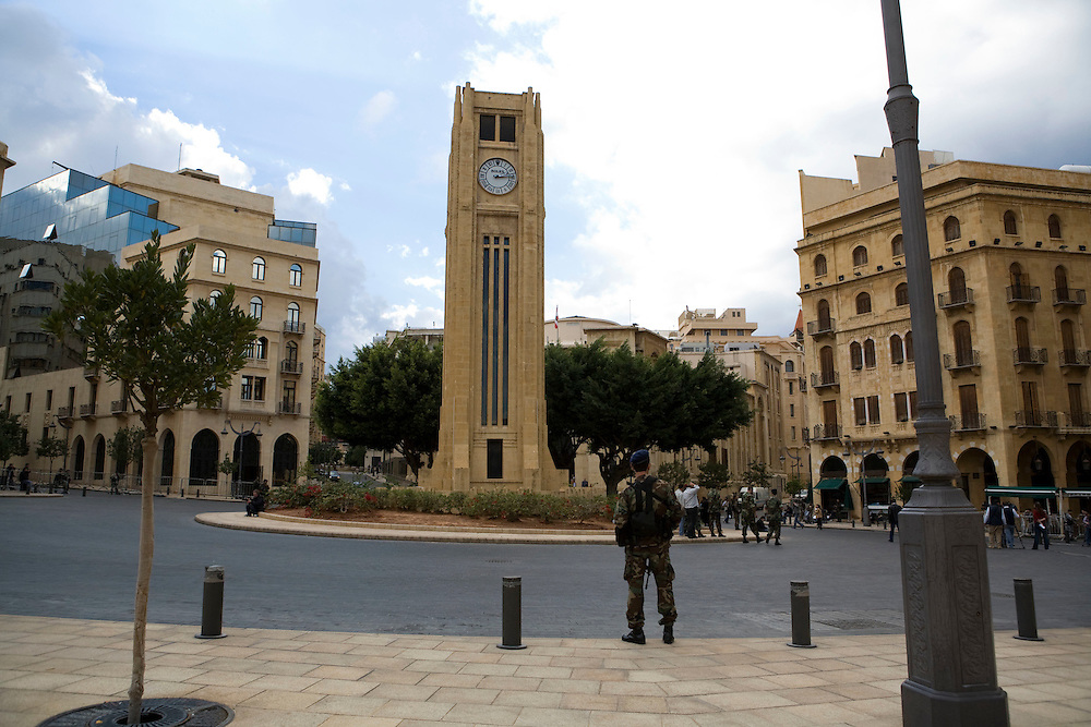 Beirut's Nejmeh (star) square where the Lebanese parliament is located.
