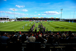 Exeter Chiefs run out at Sandy Park - Mandatory by-line: Robbie Stephenson/JMP - 29/09/2018 - RUGBY - Sandy Park Stadium - Exeter, England - Exeter Chiefs v Worcester Warriors - Gallagher Premiership Rugby