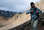 Emily Stoltz and her father Mark Stoltz climb Mt. Sneffels together, This fouteen thousand foot peak is located just outside of Ouray, Colorado.