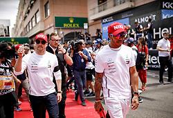 May 26, 2019 - Monte Carlo, Monaco - Motorsports: FIA Formula One World Championship 2019, Grand Prix of Monaco, .#77 Valtteri Bottas (FIN, Mercedes AMG Petronas Motorsport), #44 Lewis Hamilton (GBR, Mercedes AMG Petronas Motorsport) (Credit Image: © Hoch Zwei via ZUMA Wire)