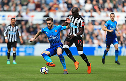 Calum Chambers of Arsenal and Mohamed Diame of Newcastle United - Mandatory by-line: Matt McNulty/JMP - 15/04/2018 - FOOTBALL - St James Park - Newcastle upon Tyne, England - Newcastle United v Arsenal - Premier League