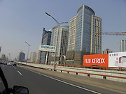 new high rise developments seen from the car China Beijing