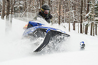 Snowmobiling with Tom.  ©2105 Karen Bobotas Photographer