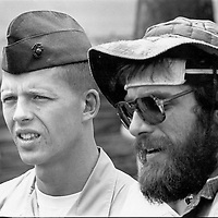 Two generations of veterans meet at an Agent Orange protest at the U.S. Capitol in Washington, DC on May 13, 1982.