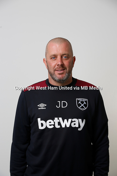 LONDON, ENGLAND - AUGUST 06:  First Team Coach Julian Dicks of West Ham poses during a Premier League portrait session on August 6, 2016 in London, England. (Photo by Tom Shaw/Getty Images)
