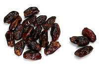 Dry dates on white background