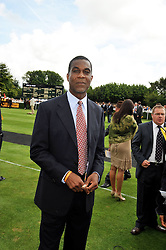 West Indies cricket legend MICHAEL HOLDING at day 1 of the annual Glorious Goodwood racing festival held at Goodwood Racecourse, West Sussex on 28th July 2009.