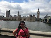 Karen Banda, Furr High School, in London at the British American Foundation of Texas's Junior Achievers Program.