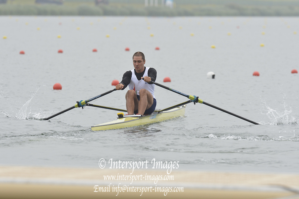 Eton Dorney, Windsor, Great Britain,..2012 London Olympic Regatta, Dorney Lake. Eton Rowing Centre, Berkshire[ Rowing]...Description;  AZE M1X  13:52:32   Friday  27/07/2012..[Mandatory Credit: Peter Spurrier/Intersport Images].