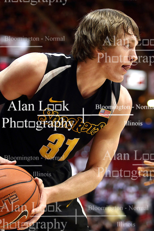 14 February 2015:   Ron Baker during an NCAA MVC (Missouri Valley Conference) men's basketball game between the Wichita State Shockers and the Illinois State Redbirds at Redbird Arena in Normal Illinois