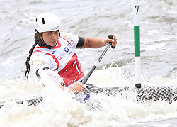 July 1, 2018 - Krakow, Poland - 2018 ICF Canoe Slalom World Cup 2 in Krakow. Day 2. On the picture: NOEMIE FOX (Credit Image: © Damian Klamka via ZUMA Wire)