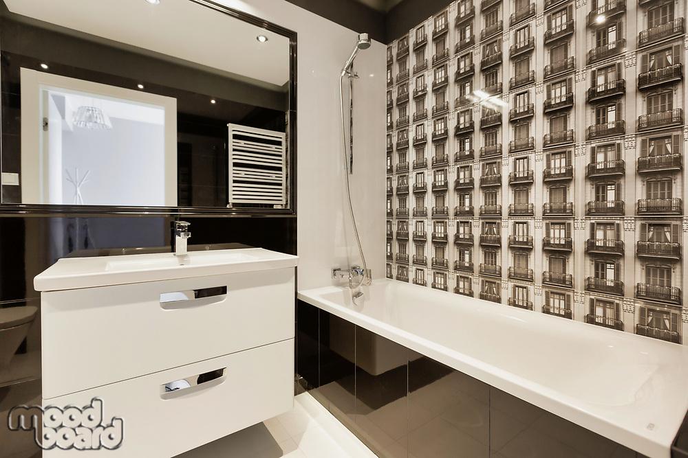Photo of rental apartment business luxurious bathroom