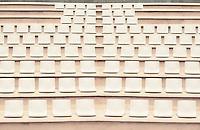 Seats in outdoor auditorium.