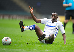 MILTON KEYNES, ENGLAND - Easter Monday, April 9, 2012: Tranmere Rovers' Lucas Akins in action against Milton Keynes Dons during the Football League One match at the Stadium MK. (Pic by David Rawcliffe/Propaganda)