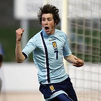 Scotland v Portugal U19 Euro Championships...28.05.07<br /> Darren Smith celebrates his goal<br /> Picture by Graeme Hart.<br /> Copyright Perthshire Picture Agency<br /> Tel: 01738 623350  Mobile: 07990 594431