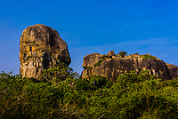 Rock formations, Yala National Park, Southern Province, Sri Lanka.