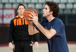 Luigi Datome during practice session of basketball club Lottomatica Roma day before Euroleague Top 16 Round Match vs KK Union Olimpija Ljubljana, on January 19, 2011 in Arena PalaLottomatica, Rome, Italy. (Photo By Vid Ponikvar / Sportida.com)