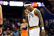 Jan. 19, 2011; Cleveland, OH, USA; Cleveland Cavaliers point guard Daniel Gibson (1) dejectedly walks to the bench during the fourth quarter against the Phoenix Suns at Quicken Loans Arena. The Suns beat the Cavaliers 106-98. Mandatory Credit: Jason Miller-US PRESSWIRE