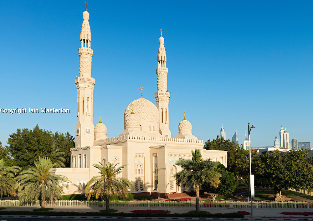 View of Jumeirah Grand Mosque in Dubai United Arab Emirates UAE