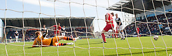 Falkirk's Rory Loy scoring their first goal.<br /> Falkirk 2 v 1 Raith Rovers, Scottish Championship game played today at The Falkirk Stadium.<br /> © Michael Schofield.