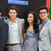 Kevin Jonas Sr., Nick Jonas, Demi Lovato and Joe Jonas