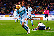 Sunderland midfielder Callum McManaman (13) in action  during the EFL Sky Bet Championship match between Bolton Wanderers and Sunderland at the Macron Stadium, Bolton, England on 20 February 2018. Picture by Simon Davies.