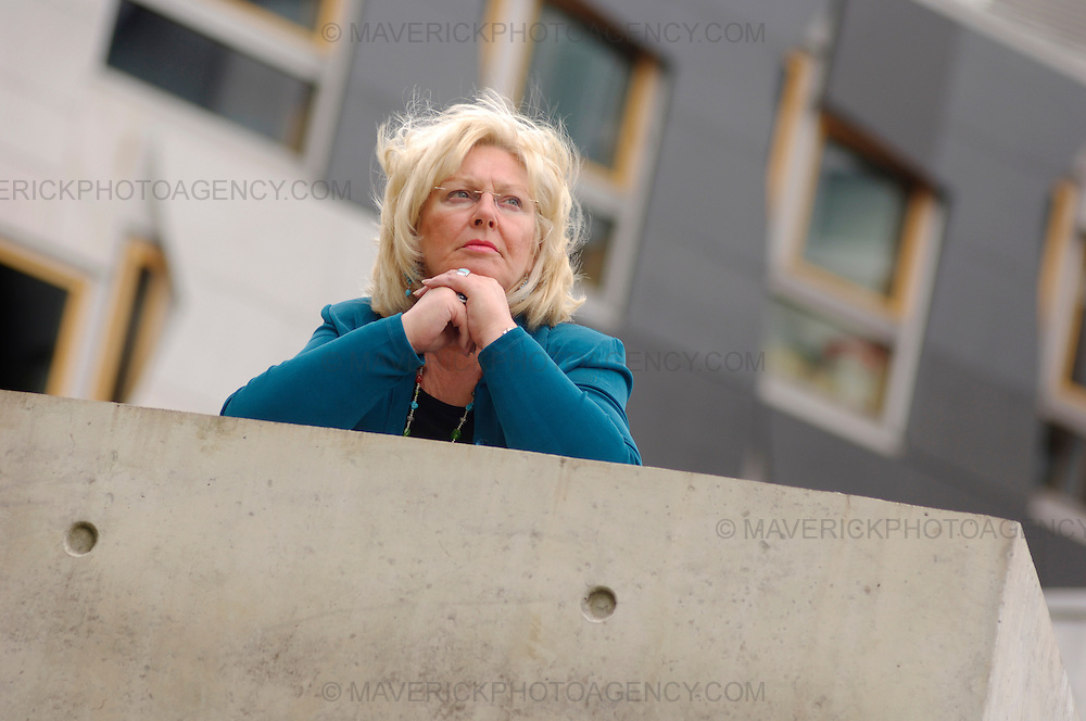 Margo MacDonald MSP outside the Scottish Parliament.  The Independent MSP, who has Parkinson's disease, was launching a consultation on her plans for a new law to make assisted suicide legal.