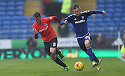 Cardiff City midfielder, Anthony Pilkington (13) during the Sky Bet Championship match between Cardiff City and Brighton and Hove Albion at the Cardiff City Stadium, Cardiff, Wales on 20 February 2016.